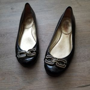 Coach ashleen patent leather brown flats 7